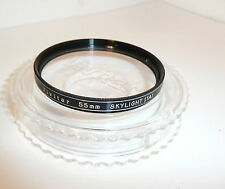 QUALITY 55mm VIVITAR SKYLIGHT 1A FILTER , CASED .