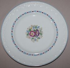 Wedgwood Corinthian Evenlode Dinner Plate Blue Loral Floral England Very Good