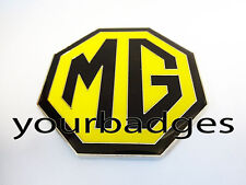 NEW Enamel Black and Yellow MG BADGE MGB ZR ZS ZT 59mm