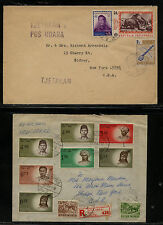 Indonesia 2 covers  to  US   one registered           KL0206