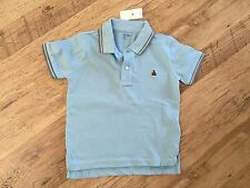GAP BOYS SHORT SLEEVE POLO SHIRT IN A SOFT COTTON WITH BEAR MOTIF 4 YEARS BNWT