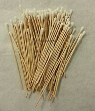 "100 Pc Cotton Swab Applicator Q-tip Swabs 6"" Extra Long Wood Handle Sturdy New"