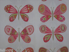 SCION/HARLEQUIN CURTAIN FABRIC DESIGN Madame Butterfly 3.1 MTR CERISE/PISTACHIO