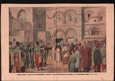 Amiral Dartige du Fournet Custode Jerusalem au Saint-Sépulcre 1911 ILLUSTRATION