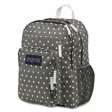Jansport Big Student Gray Dots  Backpack Bag Shcool Book Storage daypack