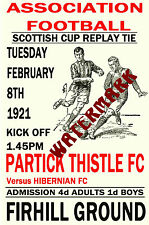 PARTICK THISTLE - VINTAGE 1920's STYLE MATCH POSTER