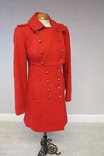 TOPSHOP BRIGHT RED MILITARY COAT IN SIZE 10 - SUPER CONDITION