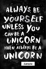 "Always be a unicorn funny ( 2"" x 3"" ) Locker / Fridge Magnet"
