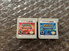 Pokemon Omega Ruby + Alpha Sapphire (Nintendo 3DS LOT) Carts Only - Tested