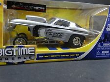 JADA Dub City 1963 Chevy Corvette Sting Ray Funny Car 1:24 Die Cast Drag Series