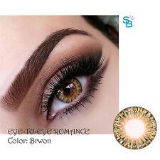 Colored contacts lenses Korea Halloween Crazy lens Kontaktlinsen (Brown)