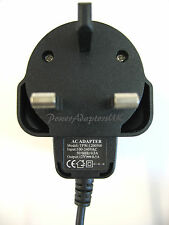 AC/DC MAINS REGULATED UK POWER ADAPTOR/SUPPLY/CHARGER/PSU 500MA/0.5A 12V
