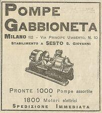 W5292 Pompe GABBIONETA - Milano - Pubblicità 1931 - Publicitè