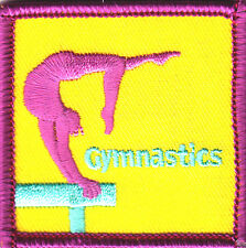 """""""GYMNASTICS"""" - SPORTS - GYM - COMPETITION - GYM - Iron On Embroidered Patch"""