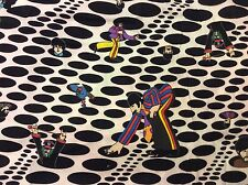 RPD576D The Beatles RARE Psychedelic Dot Yellow Submarine Quilting Cotton Fabric