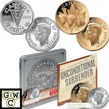 2005 VE Day Proof 5ct & Medallion Set (11564)