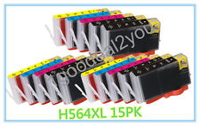 15 Pack New 564XL Ink Cartridge for HP Photosmart 6510 6520 7510 7520 Printer