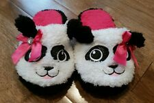 Toddler Girls Size Small 11-12 Panda Bear House Shoes Slippers