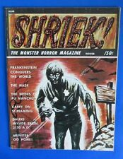 1967 SHRIEK #4 FN- Acme House of Horror UK Frankenstein - Munster Go Home