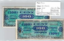 FRANCE - 2 BILLETS DE 100 FRANCS 1945  SERIE 8 ET SERIE 9 RARE