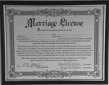 Fake Marriage Certificate Prank (In A Plastic Frame) Funny Prank Gag Gift