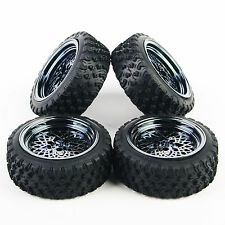 Rubber Tires Wheel Rim #344 For 1:10 HSP HPI RC Rally Racing Off Road Car 4 Pcs