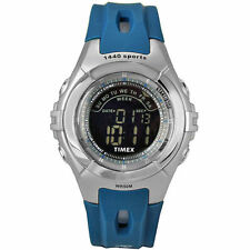 Mens Timex 1440 Indiglo Digital Alarm Blue Rubber Sports Watch T5G911