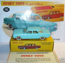 DINKY TOYS ATLAS CHEVROLET CORVAIR 1961 BLEU CLAIR 1/43 REF 552 IN BOX