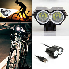 Solar Storm 8000LM X2 CREE XM-L T6 USB Waterproof Lamp LED Bicycle Headlight RF