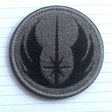 JEDI ORDER STAR WARS LOGO US MILITARY TACTICAL MORALE SWAT OPS GRAY HOOK PATCH