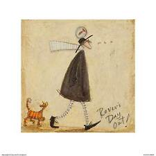 CAT ART PRINT Rover's Day Out Sam Toft