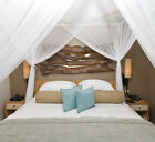 Luxurious Box Mosquito Net 100% Cotton Queen Size Hang easily over Standard Bed