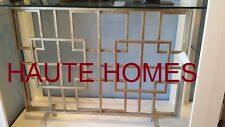 NEW HORCHOW DOMINIC SQUARE SILVER Flat Panel IRON Fireplace Screen Geometric