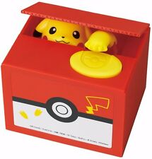 New Pokemon Pikachu Bank Moving Electronic Coin Money Piggy Bank Box F/S