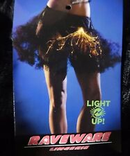 NEW Light Up Lightning Tutu Mini Pettycoat Skirt Costume Raveware Adult OS