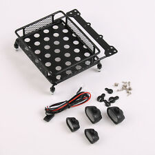 LED Light Bar RC Roof Luggage Rack 1:10 For Tamiya CC01 SCX10 Rock Crawler