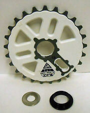 Bicycle BMX Bike Crank Chain Ring Sprocket Gear 25 Tooth Alloy White NEW