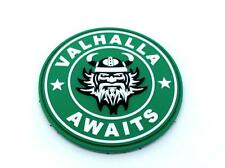 Valhalla Awaits Viking PVC Airsoft Paintball Patch