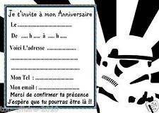 5 cartes invitation anniversaire star wars 012 dautres en
