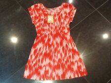 NWT Juicy Couture New Genuine Ladies Size Small Red/Pink Cotton Dress UK 8/10