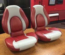 Boat Seats TEMPRESS DLX Centric RED / GRAY Seat - (2) Pair - Made in USA