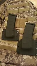 2 Mag pouches fits  AR .223 & 5.56,  Magpul & milspec mags Black , Kydex.