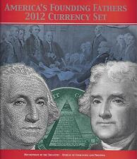 FOUNDING FATHERS 2012  CURRENCY SET: $1 & $2 MATCHING, MINNEAPOLIS, I20123667