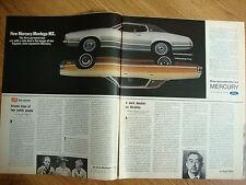 1972 Mercury Montego MX Brougham Ad