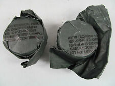 2x Surplus British Army AR10 S10 FM12 40mm Respirator Gas Mask Filter Filters J1