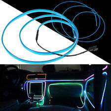 Blue LED 12 V Neon Light Glow EL Wire Rope Tube Car Decorative Light Strip New