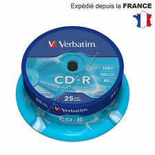 Lot de 25 CD R Vierge Verbatim 52X 700 Mo Extra Protection NEUF PROMOTION !!!