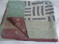 Vintage Kantha Quilt, handmade Kantha Throw Kantha Bedspread gudari M48