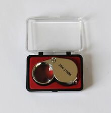 Triplet Lens 30 x 21mm Eye Glass Loupe with Case, Eyeglass Magnifier Magnifying