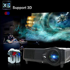 6000 Lumens Full HD 1080P LED LCD 3D VGA HDMI TV Home Theater Projector 3D US
